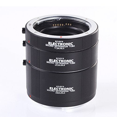Fotga Macro AF Auto Focus Automatic Extension Tube Ring 13mm + 20mm + 36mm Set for Kenko Canon EF EF-S Lens