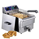 Single Electric 10L Deep Fryer with Drain
