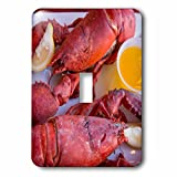 3dRose Danita Delimont - Maine - Portland, Maine, lobster dinner at regional seafood restaurant - Light Switch Covers - single toggle switch (lsp_251068_1)