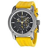 B u r b e r r y Sport Chronograph Black Dial Yellow Rubber Mens Watch BU7712