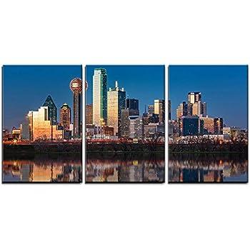 wall26 - Dallas Skyline at Sunset - Canvas Art Wall Decor - 16
