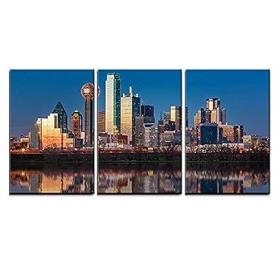 Dallas Skyline at Sunset Wall Decor x3 Panels, Made to Last, Grand Creative Design