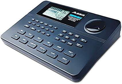 Alesis SR16 - Caja de ritmos clásica de 24-bit estéreo con articulación dinámica,12 pads sensibles a la intensidad, 233 sonidos asignables a cualquier pad, entradas/salidas y efectos incorporados