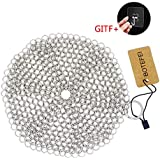 "Cast Iron Cleaner Round 6.3"" Chainmail Scrubber for Skillet, Pan, Griddle, Wok; Reusable Option to Scouring Pad; Does Not Rust like Steel Wool; Makes Cookware Cleaning Easy"