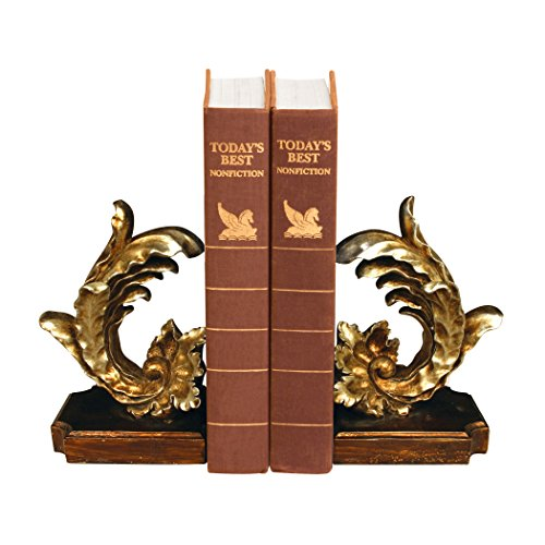 Sterling Industries 93-6813 Pair Cresting Leaf Bookends Bookend