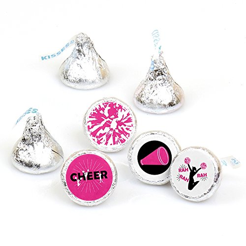 We've Got Spirit - Cheerleading - Birthday Party or Cheerleader Party Round Candy Sticker Favors - Labels Fit Hershey's Kisses (1 Sheet of 108) -