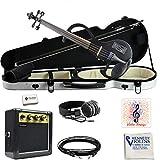 Bunnel SHREDDER Electric Violin Outfit (Jet Black)