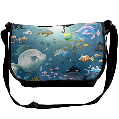 Sea In Fish Shoulder Bags The Fashion Cartoon Handbags Single Men's Bags Travel Black Satchel dFtcwcq5