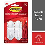 Command Designer Hooks, Medium, White, 2-Hooks (17081ES)