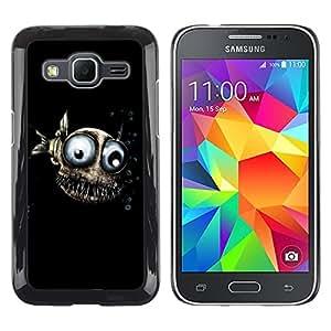 TopCaseStore / la caja del caucho duro de la cubierta de protección de la piel - Design Evil Fish - Samsung Galaxy Core Prime SM-G360