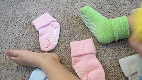 DmsBanga 6 Pairs Baby Socks for Unisex Kids Stocking Birthday Christmas Gift Set,Baby Socks Girl Boy,Baby Socks Christmas,Baby Socks Unisex,Baby Anti-slip Cuff Socks Thick Cotton Socks(1-3 Years Old)