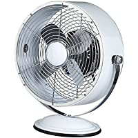 """DecoBREEZE Personal 10"""" Desk Fan for Keeping You Cool and Comfortable - 12.5 Inches High Electric Fan Produces Just the Right Breeze for Your Desk, Bedside, Dorm, or Couch - Retro Design"""