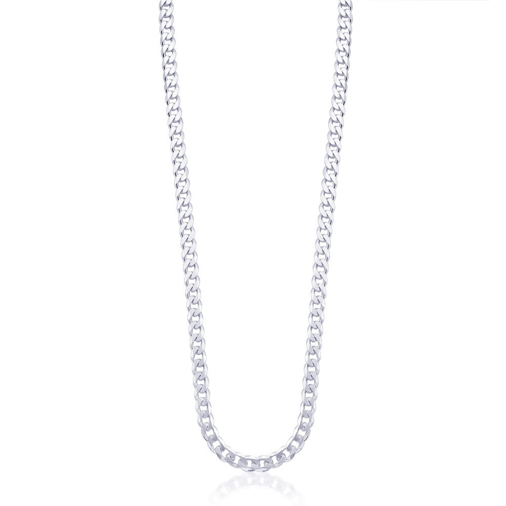 Taraash 925 Sterling Silver Chain for Men Silver-ACDH1506C20IN