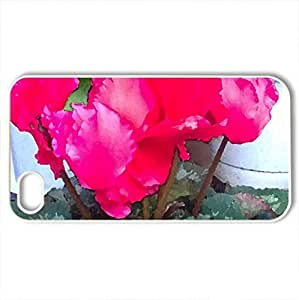 Cylamen - Case Cover for iPhone 4 and 4s (Flowers Series, Watercolor style, White)