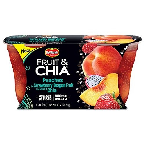 Delmonte Strawberry Dragonfruit Chia Peaches, Pack of 2