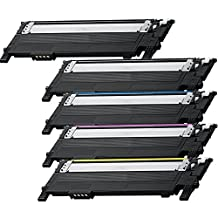 5 Pack - Compatible Black High Yield Toner Cartridge for CLT-406 #406 (2 Black, Cyan, Magenta, Yellow) CLT-K406S CLT-C406S CLT-M406S CLT-Y406S Works With Following Printer Models: Samsung Xpress C410W, SL-C410W, SL-C460FW, SL-C460W / CLP-360, CLP-365, CLP-365W / CLX-3305FW by Forlei® Products