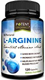 L-Arginine Essential Amino Acid 120 Vegetarian Capsules - For Muscle, Heart and Energy!