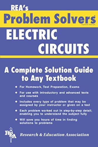 electric circuits problem solver problem solvers solution guides rh amazon com