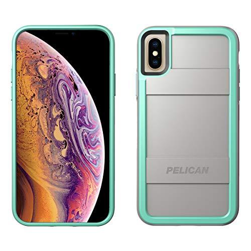 Pelican Protector iPhone Xs Case (Also fits iPhone X) - Grey/Aqua
