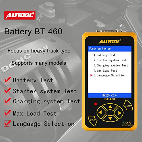AUTOOL BT-460 Car Battery Tester for 12V Cars & 24V Trucks by AUTOOL (Image #5)