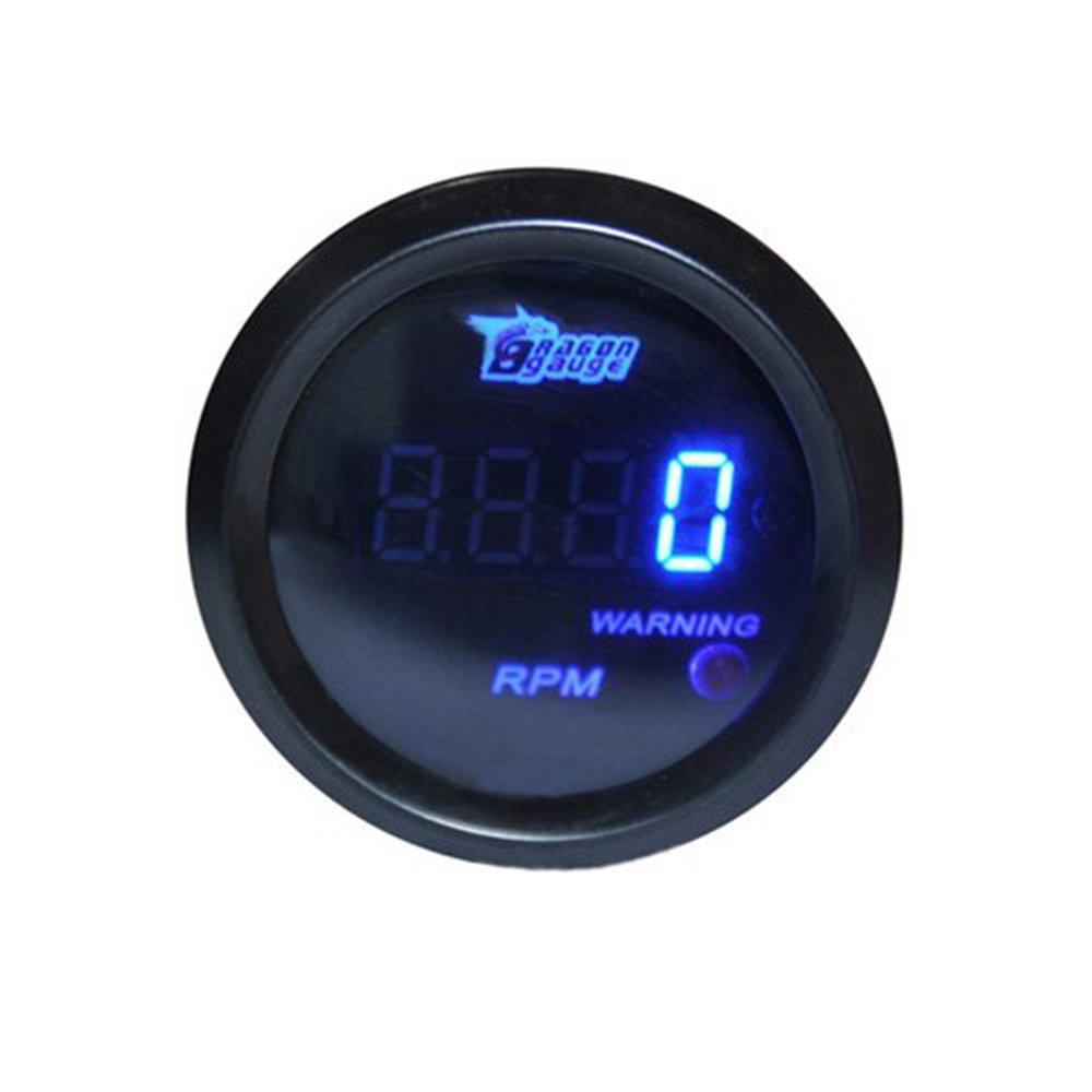 HOTSYSTEM Tacho Tachometer Drehzahlmesser Tourenzä hler Digital LED 0-9999 RPM mit Warnleuchte