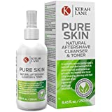 Kerah Lane Pure Skin - Natural Toner & Cleanser to Remove Ingrown Hairs, Acne & Razor Bumps for Women & Men. Use After Shaving, Waxing & Hair Removal or as a General Skin Care Solution 250ml