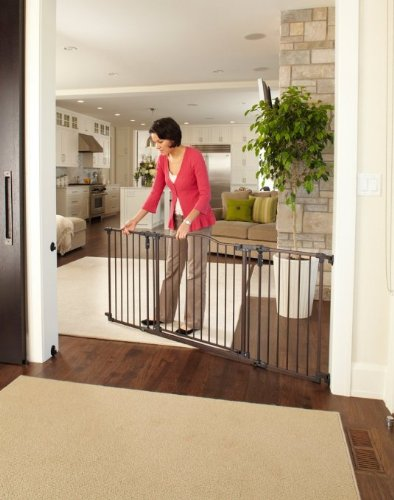North States Deluxe Decor Baby/Pet Metal Gate - Matte Bronze | 4934 (2-Pack) by North States