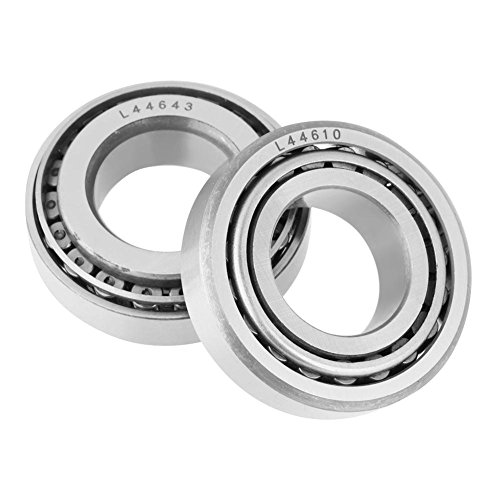 Fevas 2pc RM2-2RS/2pcs L44643 Double Rubber Sealed Steel 3/8'' V Groove Guide Sealed Ball Bearing