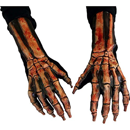 Halloween Gloves - Zagone Kick Ass Beast Gloves, Bloody Skeleton  Hands