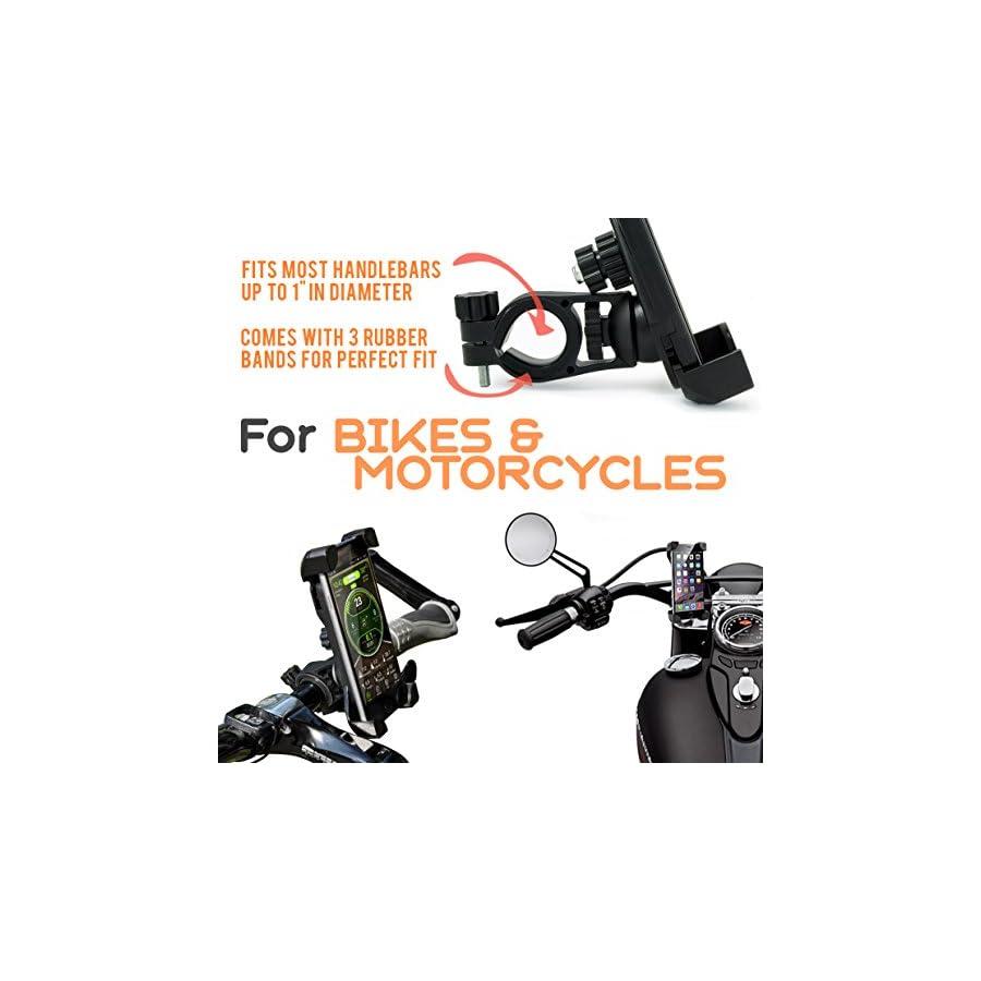 Universal Bike Phone Holder #1 Bike Phone Mount | Bike iPhone Mount / iPhone 6 Holder for Bike | Bike Cell Phone Holder with FREE GIFTS 2x Wheel Led Bike Light Sports Bike GIFTs perfect GIFT