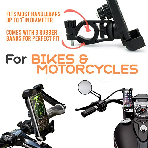Universal Bike Phone Holder #1 Bike Phone Mount | Bike iPhone Mount / iPhone 6 Holder for Bike | Bike Cell Phone Holder with FREE GIFTS 2x Wheel Led Bike Light Sports Bike GIFTs perfect GIFT