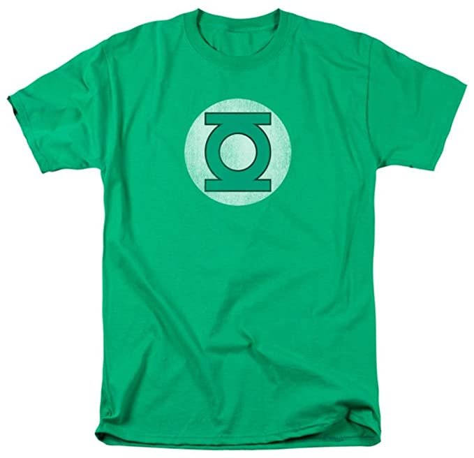 ce43c890 Amazon.com: Green Lantern Distressed Logo Adult T-Shirt: Clothing