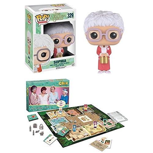 Funko POP! The Golden Girls: Sophia + USAopoly Golden Girls CLUE - Mystery Board Game Vinyl Figure Set NEW