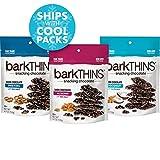 barkTHINS Dark Chocolate Snack Variety Pack (Almond Sea Salt, Pretzel Sea Salt, Coconut Almond), 4.7-oz. Bags, 3 Count