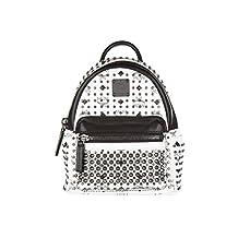 MCM women's leather rucksack backpack travel white