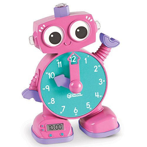 Learning Resources Tock The Learning Clock Toy, Pink]()
