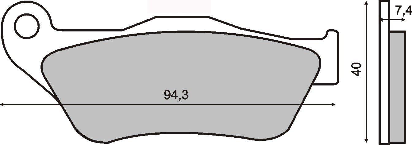 pastillas de freno Organica delantero compatible con YAMAHA Yp X-Max 125 2006-2009