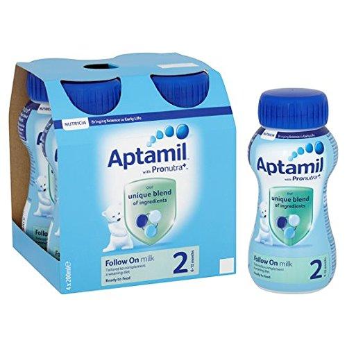 Aptamil 2 Follow On Milk Multipack 4X200ml Ready To Feed Liquid