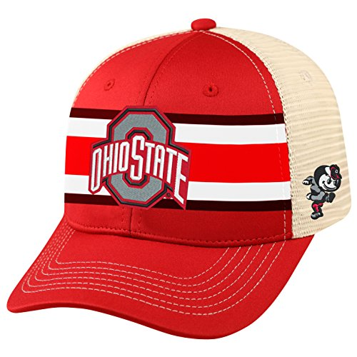 Top of the World NCAA-Ohio State Buckeyes-Audible-Trucker Mesh Adjustable Snapback Hat - Ohio State Hats University
