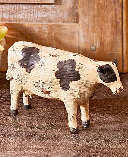 Better Home Space Farmhouse Decor Farm Animals   Animal Figures  Farm Toy  Animal Sculpture and Animal Statues  Cow Sculpture Sheep Sculpture  Goat Sculpture  Pig Sculpture Rustic Farmhouse (Cow) (Cow Ceramic Statue)