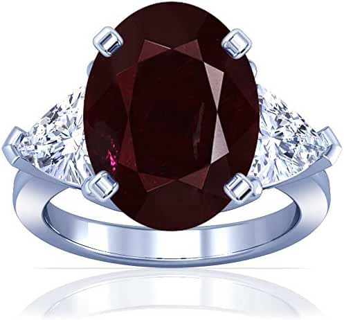 Platinum Oval Cut Ruby Three Stone Ring (GIA Certificate)