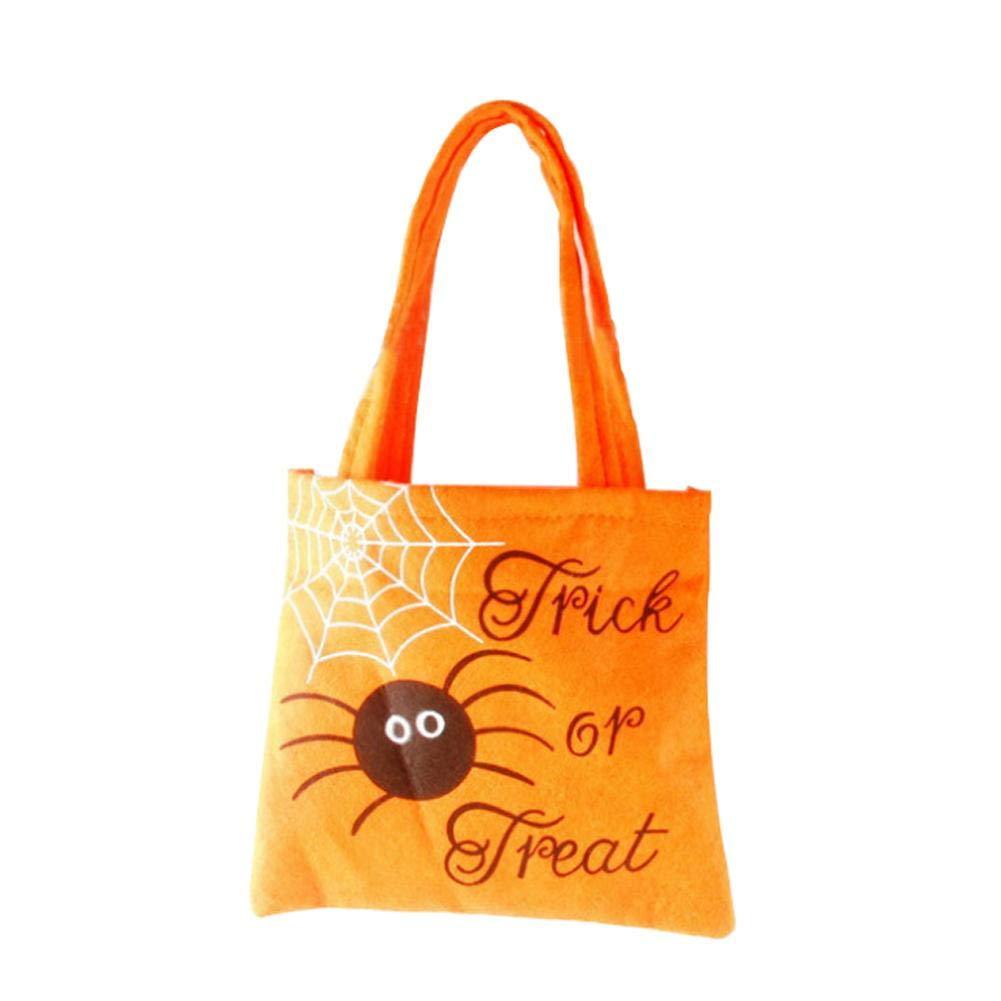 Sac fourre-tout Halloween Trick or Treat Sac citrouille sachets à bonbons Trick or Treat Pochette surprise pour sac cadeau pour enfants sur le thème de Halloween fête jaune Hete-supply