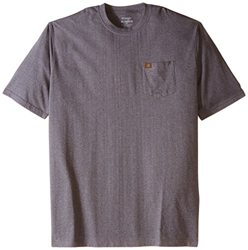 RIGGS WORKWEAR by Wrangler Men's Big & Tall Pocket T-Shirt, Charcoal Gray, XXX-Large Tall