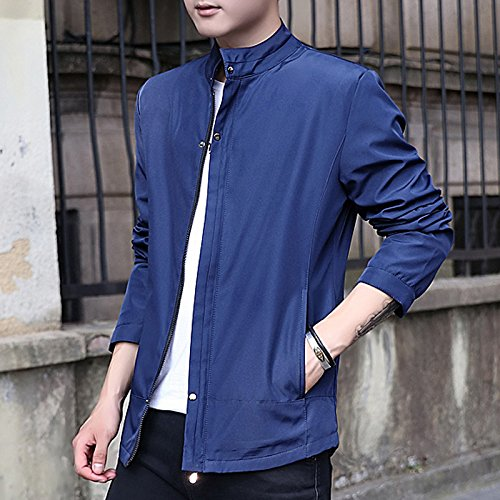 La versión coreana de los hombres chaqueta hombre delgado, Sau en un vino-IR conjunto de camisa casual, azul oscuro ,XXXXL