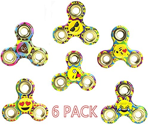 Pro Metal Series (Emoji Fidget Spinner Pro Metal Series Hand Spinner Stress Reducer Perfect for ADHD EDC Hand Killing Time ADHD, ADD, Focus, Boredom (Emoji 6pk) HOliday Gift)