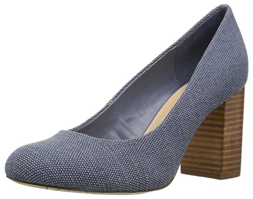 Bella Vita Women's Nara II Pump, Blue Canvas, 8 W US