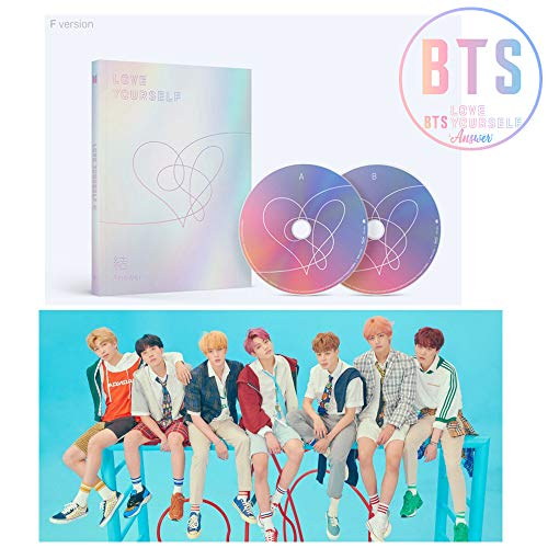 Price comparison product image BTS LOVE YOURSELF Answer Album [F ver.] BANGTAN BOYS 2CD + Official Poster + Mini Book + Photo Card + Sticker Pack + Gift (4 Photo Cards Set)