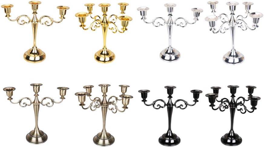 3 t/êtes Chandelier Chandelier Chandelier europ/éen en m/étal pour 5 Bougies D/écoration r/étro ABBQT