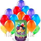 Multicolor Rainbow Party Supplies Latex Balloon Pack with Helium Tank