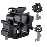 3 Triple Camera Speedlite Holder Mount Cold Shoe Mount Adjustable Hot Shoe Mount Umbrella Holder Flash Bracket for Speedlight, Led Lights, LED Monitors, Microphones, Audio Recorder & Studio Flash